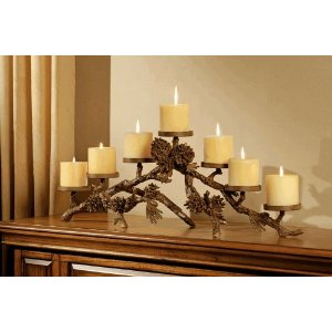 Mantle Candelabra centerpiece