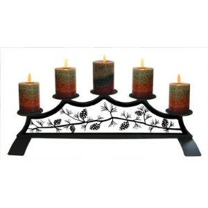 Pinecone Fireplace candelabra