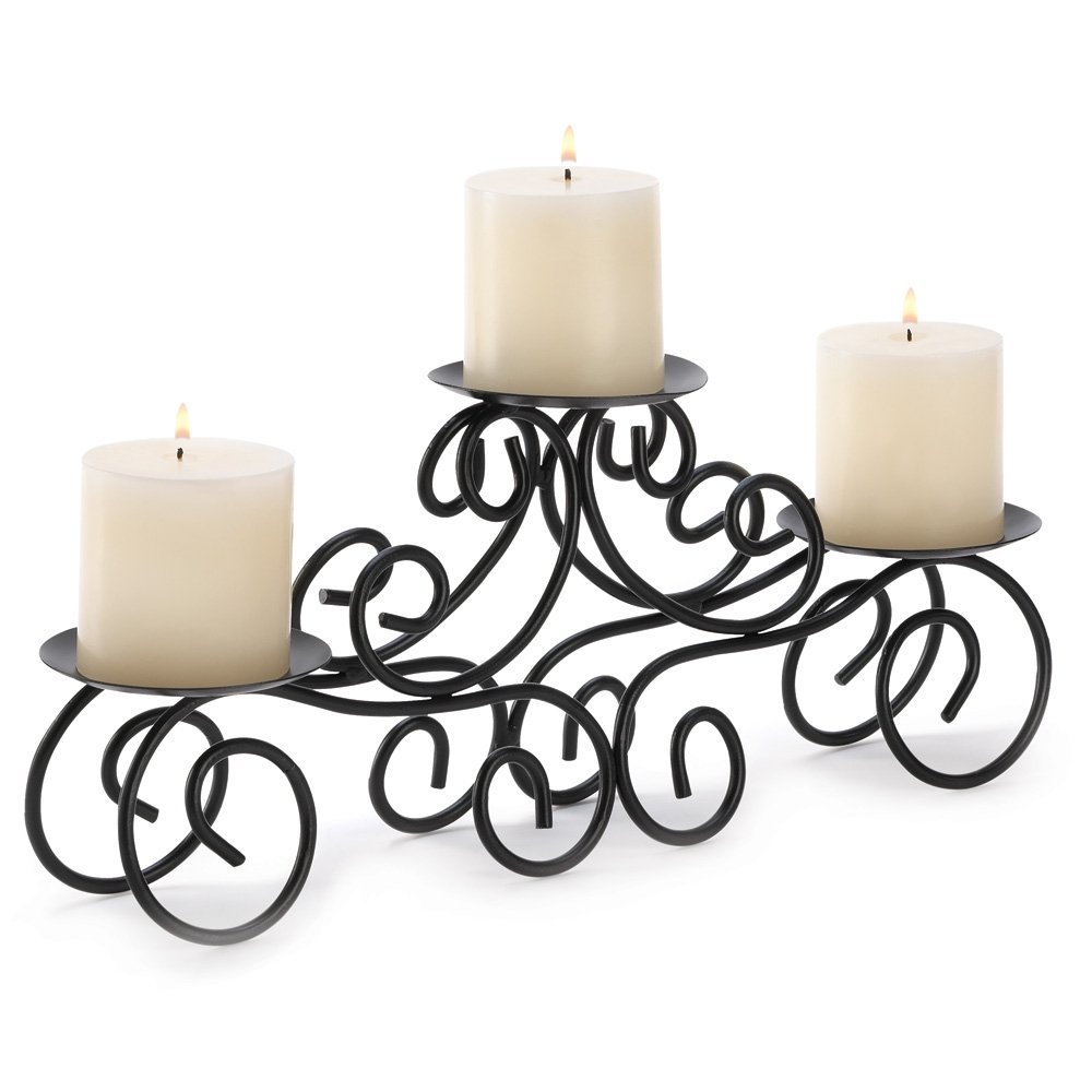 Candelabra Wrought Iron Wedding Centerpiece