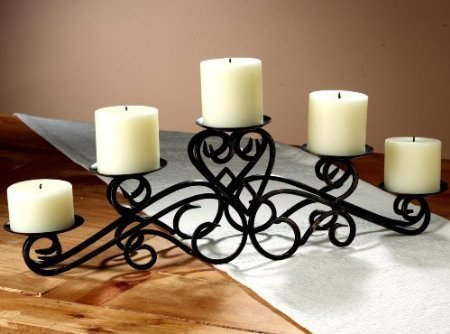 Fireplace Pillar Candelabra Metal Centerpiece