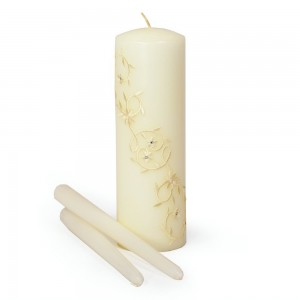 Sparkling Entwined Unity Candle and Taper Set