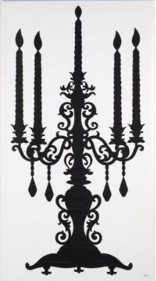 Removable Stickers - Candelabra silhouette