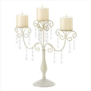 Ivory Wedding Candleabra