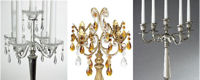 TRIO OF CANDELABRAS