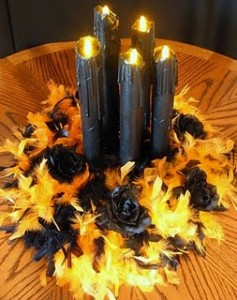halloween pillar candles