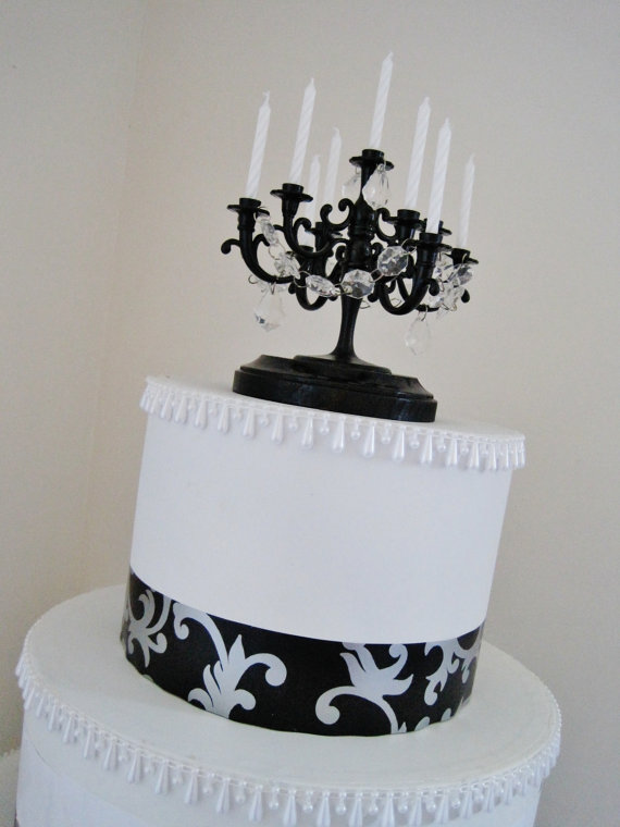 Cake Candelabra Wedding Cake Topper