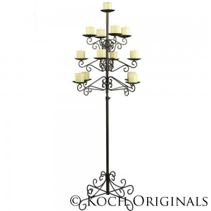 Tree Floor Candelabra - Pillar Style - Onyx Bronze 1