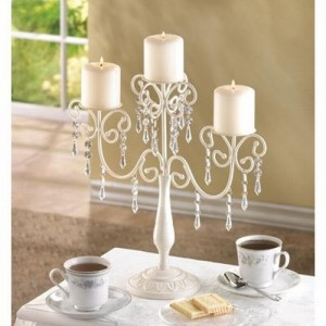 Ivory Candelabra Wedding Candelabra Centerpiece Candle Holder