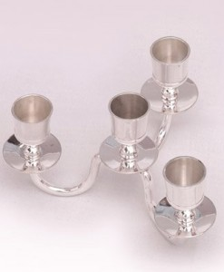 silver short Candle Holder Candelabra