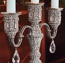 Swarovski crystal Three-Arm Candelabra