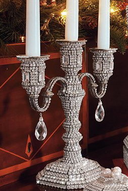 Swarovski crystal Three Arm Candelabra