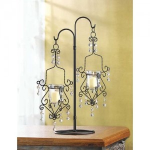 10 WEDDING HANGING MINI CHANDELIER CANDELABRA CENTERPIECES
