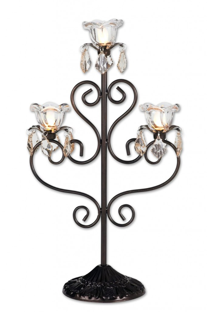 Exhart Anywhere Triple Flame Candelabra