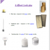 3 different candle styles for your candelabras