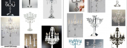 crystal and glass candelabra centerpieces