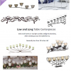 long and low table candelabra centerpieces