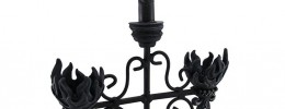Black Wrought Iron Gothic Candelabra