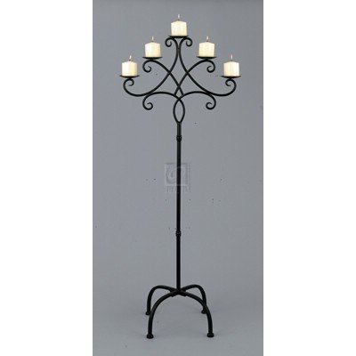 TALL FLOOR CANDELABRA - TALL IRON FLOOR CANDELABRA
