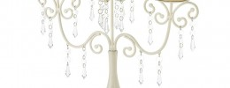 ivory crsytal candelabra centerpiece set of 15