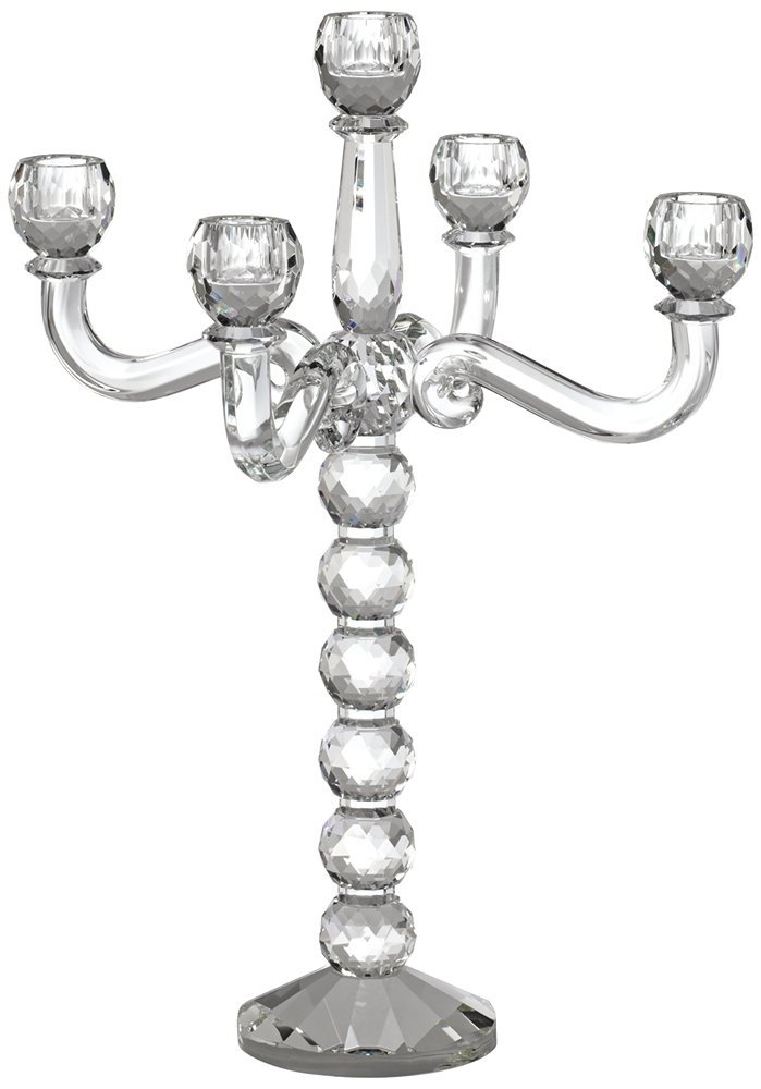 Felicity 5-Arm Crystal Candelabra Candle Holder