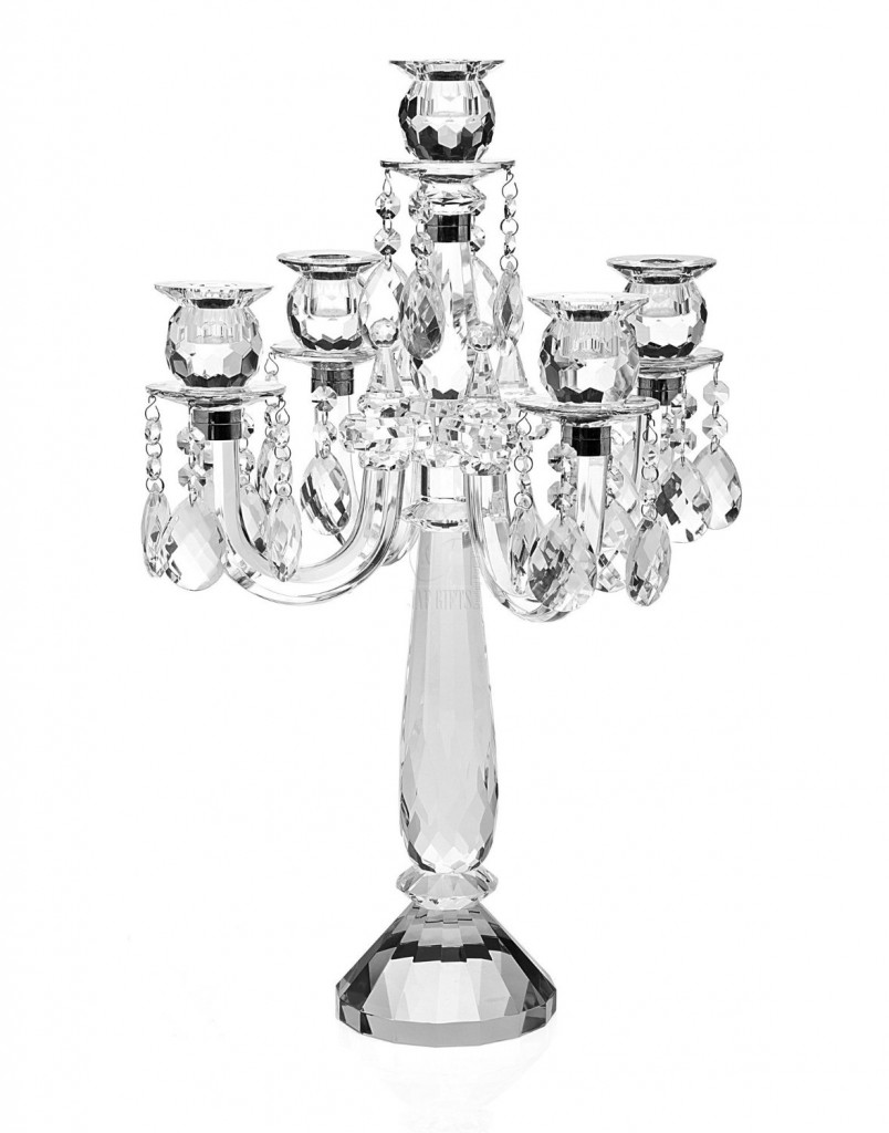 Godinger 5 LIGHT CANDELABRA WITH DROPS