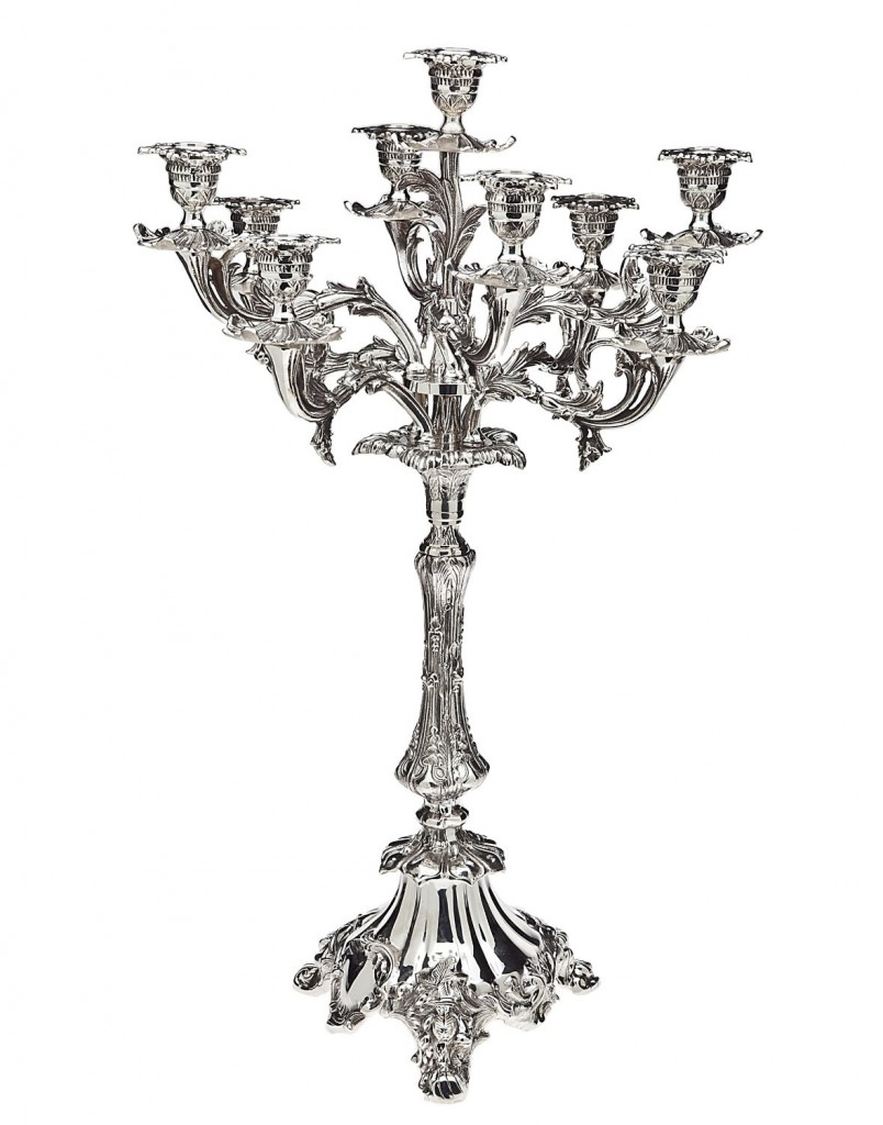 SILVER PLATED 9 LIGHT CANDELABRA