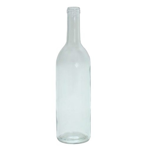 750 ml Clear Glass Claret Bordeaux Bottles, 12 per case