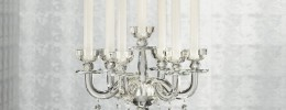 genuine Crystal Candelabra candel holder on sale