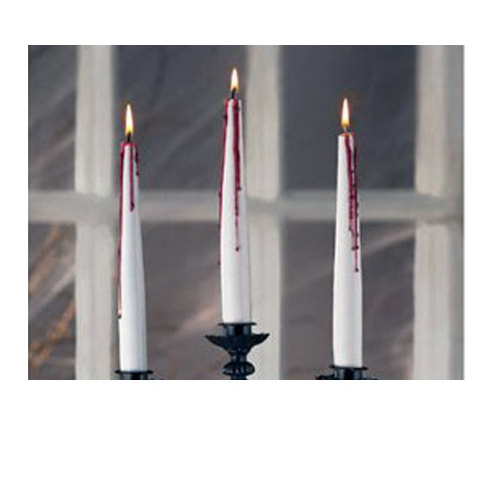 Bleeding Tapers Candles Halloween Decor, Red Bleed, 2-piece