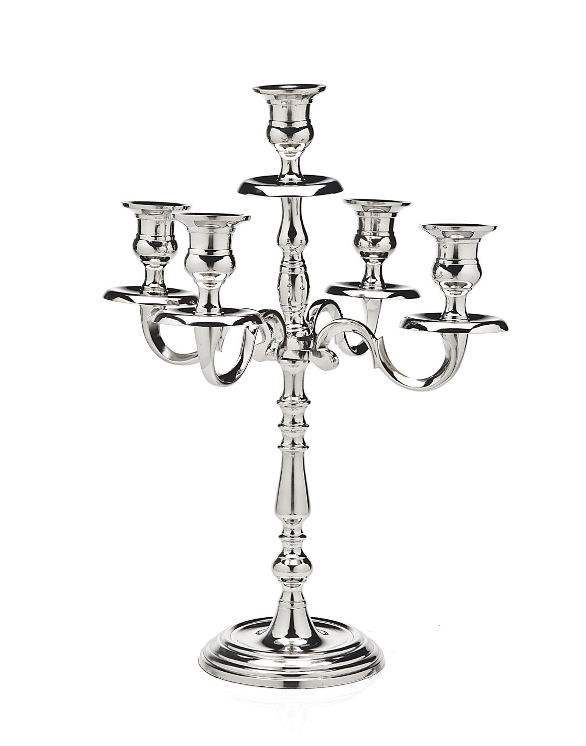 Classic Nickel Plated Candelabra 5 Light
