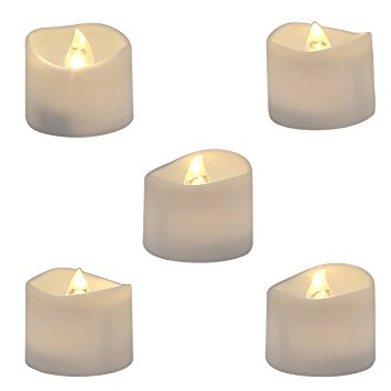 flickering flameless LED tea Light Candles realistic and bright