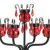 RED BEJEWELED CANDELABRA WEDDING CENTERPIECES