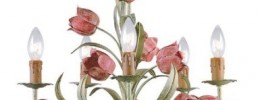 wrought iron sage and rose candelabra chandelier