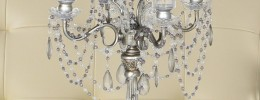 Antique Silver Finish 28 inch High 4 Taper Candelabra